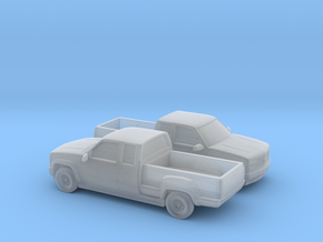 1/160 2X 1995 Chevrolet Silverado Stepside in Smooth Fine Detail Plastic