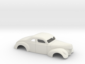 1/12 1940 Ford Coupe 3 In Chop 7  In Section in White Natural Versatile Plastic