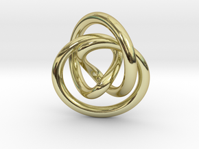 Infinity Pendant in 18k Gold Plated Brass