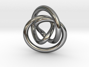 Infinity Pendant in Fine Detail Polished Silver