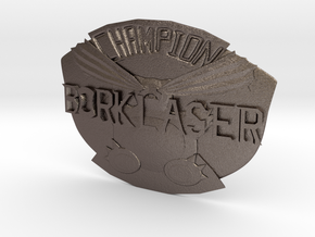 Bork Laser Championship Belt Buckle in Polished Bronzed Silver Steel