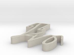 000401 : Signature of al-Quran verses numbers in Natural Sandstone