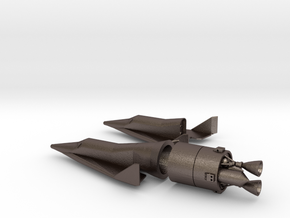 1/144 BOEING X-20 DYNA SOAR SPACE PLANE in Polished Bronzed Silver Steel