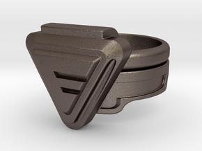 Doctor Evil Ring 16.30mm 5 3/4 No medical symbol in Polished Bronzed Silver Steel