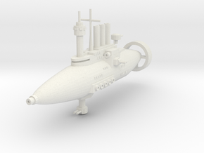 Jarv-densor Class Torpedo Cruiser in White Strong & Flexible