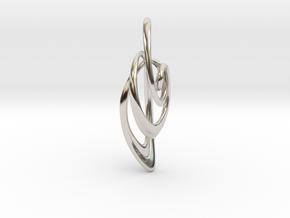 Loop Pendanttop  in Rhodium Plated Brass