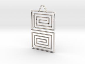 Snake Pendant in Platinum