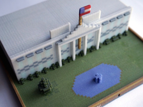 Minecraft Whitehouse in Full Color Sandstone