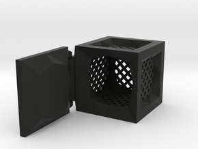Hinged Box (Anguled) in Black Natural Versatile Plastic