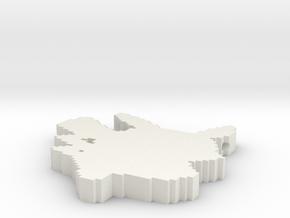 Pikachu Pendant in White Natural Versatile Plastic