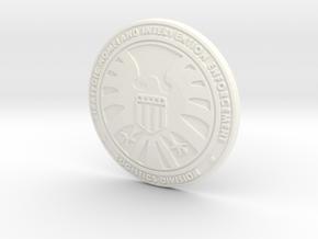 SHIELD Badge in White Processed Versatile Plastic