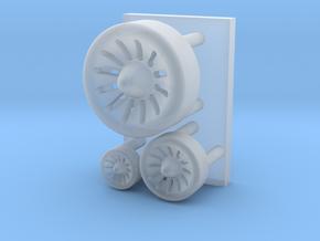 Spaceship engine parts ( enhanced version ) in Smooth Fine Detail Plastic