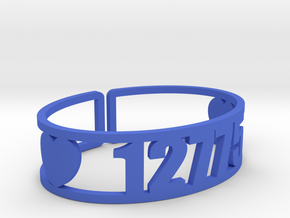 Iroquois Springs Zip Cuff in Blue Processed Versatile Plastic