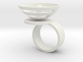 Orbit: US SIZE 7 in White Natural Versatile Plastic