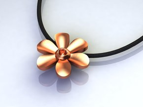 Hope Flower in Polished Brass