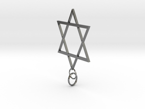 Star Of David in Fine Detail Polished Silver