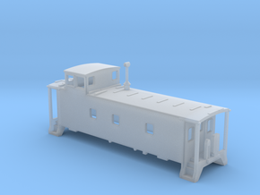 N scale DRGW caboose 01469- series in Smooth Fine Detail Plastic