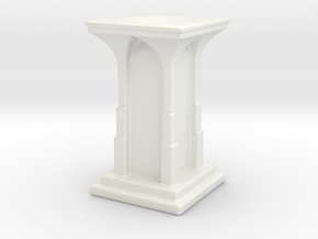 Gothic Vase in Gloss White Porcelain