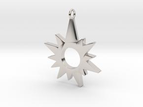 Sunburst Pendant in Platinum