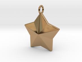 Geometric Star Pendant in Polished Brass