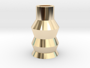 Abstract Sculpture for home and office in 14k Gold Plated Brass