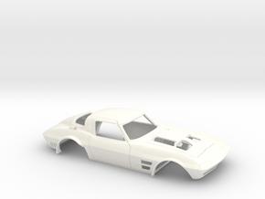 1/25 Corvette Grand Sport 1964 in White Processed Versatile Plastic