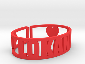 Lokanda Cuff in Red Processed Versatile Plastic