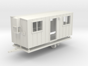 Construction Trailer 1-87 HO Scale WSF in White Natural Versatile Plastic