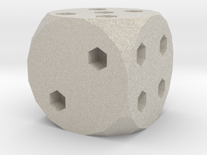 Classic Die 6 in Natural Sandstone
