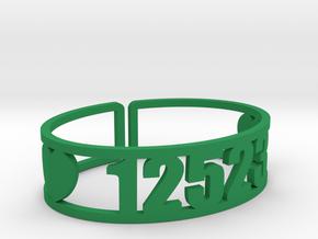 Scatico Zip Cuff in Green Processed Versatile Plastic