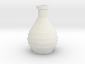 Decorative Design Jar in White Natural Versatile Plastic