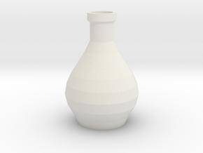 Decorative Design Jar in White Natural Versatile Plastic