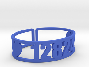 Walden Zip Cuff in Blue Processed Versatile Plastic