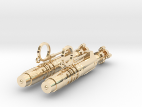 River Song Sonic Screwdriver Earrings in 14k Gold Plated Brass
