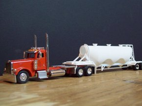 S-scale 1/64 Dry Bulk Trailer 11 - 1040 Superjet in White Natural Versatile Plastic