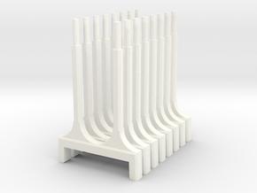 WUS Elevator Pylons in White Processed Versatile Plastic