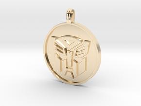 Transformer Pendant in 14k Gold Plated Brass