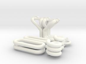1/8 Small Block Chevy Custom Header Kit in White Processed Versatile Plastic