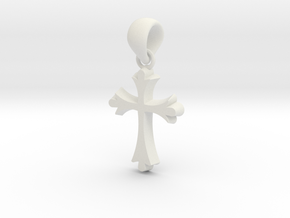 CBC Cross in White Natural Versatile Plastic