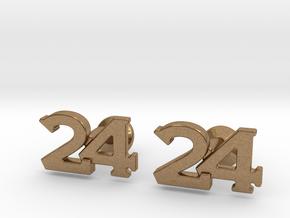 Monogram Cufflinks 24 in Natural Brass