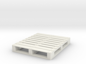 1/10 Scale American pallet (120x100) in White Natural Versatile Plastic