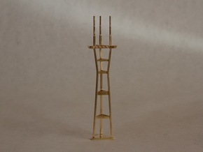 "4"" micro metal tower in Natural Brass"