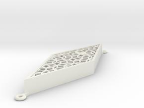 Penrose-mezuzah-thin in White Natural Versatile Plastic