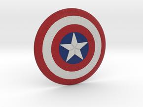 Captain America Shield in Full Color Sandstone