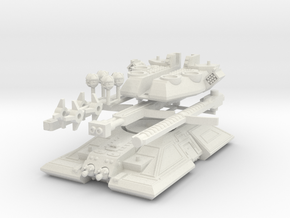 MG144-HE007 Onager Super Tank in White Natural Versatile Plastic