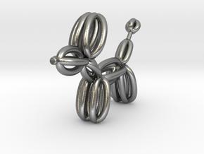 Balloon Dog Pendant in Natural Silver
