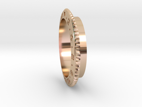 Rolex 70mm Air Gauge Cover Accuair ExoMounts Bezel in 14k Rose Gold
