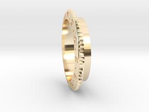 Rolex 70mm Air Gauge Cover Accuair ExoMounts Bezel in 14k Gold Plated Brass