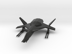 Raptor Space Fighter in Black Natural Versatile Plastic