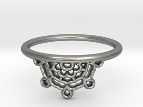 Half Lace Ring - Size 7.5 in Natural Silver: 7.5 / 55.5
